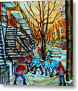 Montreal Hockey Paintings Metal Print