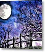 Moon O're Hocking Hills Metal Print
