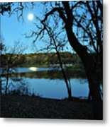 Moon Over Pierce Lake Metal Print