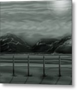 Moon Over The Beartooth Metal Print