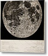 Moon Surface By John Russell Metal Print