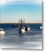 Moored In Chatham Harbor Metal Print