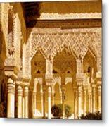 Moorish Architecture In The Nasrid Palaces At The Alhambra Granada Metal Print