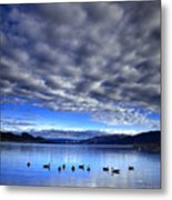 Morning Light On Okanagan Lake Metal Print
