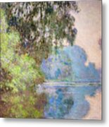 Morning On The Seine Near Giverny 1897 Metal Print
