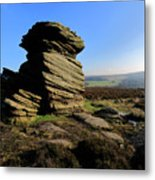 Mother Cap Gritstone Rock Formation, Millstone Edge Metal Print
