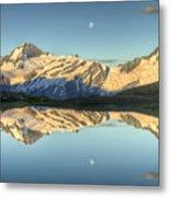 Mount Aspiring Moonrise Over Cascade Metal Print