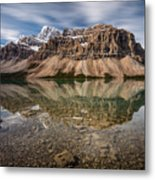 Mount Crowfoot Reflection Metal Print