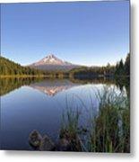 Mount Hood At Trillium Lake Metal Print