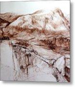 Mountains In Snowdonia Metal Print
