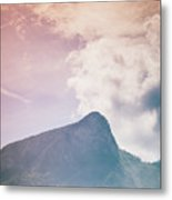 Mountains In The Background Xv Metal Print