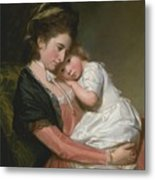 Mrs Johnstone And Her Son Metal Print