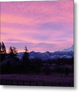 Mt Rainier Frosty Sunrise Metal Print