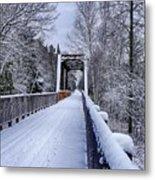 Munger Trail Bridge Metal Print