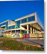 Museum Of Contemporary Art In Zagreb Exterior Metal Print