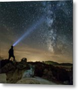 Mushroom Rocks Phenomenon Under The Night Sky Metal Print