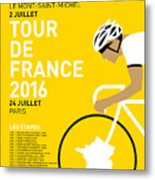 My Tour De France Minimal Poster 2016 Metal Print