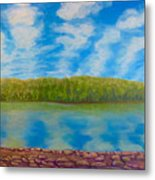 My Serenity Lies In A Place Between Heaven And Earth Metal Print