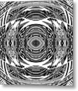 Mystical Eye - Abstract Black And White Graphic Drawing Metal Print