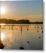 Mystical Sunrise On The Lake Metal Print