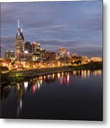 Nashville Tennessee Skyline Sunrise  Metal Print