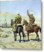 negotiators Surrender - Go to hell 1873 Vasily Vereshchagin Metal Print