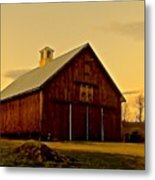 New England Barn Metal Print