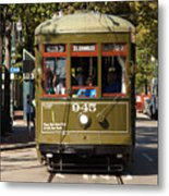 New Orleans Cable Car Metal Print