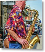 New Orleans Jazz Sax Metal Print