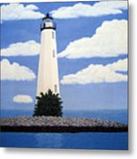 New Point Comfort Lighthouse Metal Print