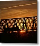 New Roof At Sunset Metal Print