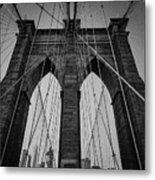 New York City - Brooklyn Bridge Metal Print