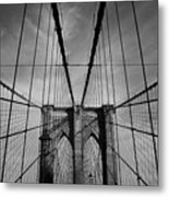 New York City - Brooklyn Bridge Metal Print