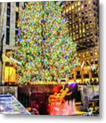New York City Christmas Tree Metal Print
