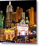 New York  New York Casino Metal Print