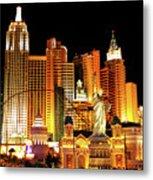 New York New York Hotel Metal Print