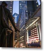 New York Wall Street Metal Print