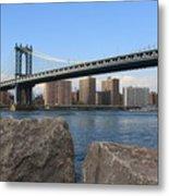 New York's Manhattan Bridge Metal Print