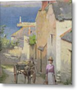 Newlyn From The Bottom Of Adit Lane Metal Print