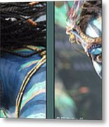 Neytiri - Gently Cross Your Eyes And Focus On The Middle Image Metal Print