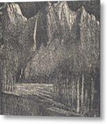 Night In The Yosemite Metal Print