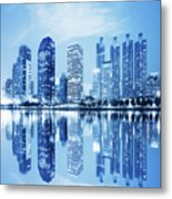 Night Scenes Of City Metal Print