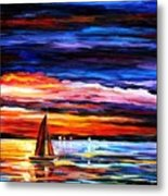 Night Sea Metal Print