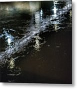 Night Stream Metal Print