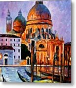 Night Venice Metal Print