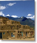 North Pueblo Taos Metal Print by Kurt Van Wagner
