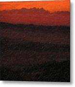 Not Quite Rothko - Blood Red Skies Metal Print