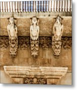 Noto, Sicily, Italy - Detail Of Baroque Balcony, 1750 Metal Print