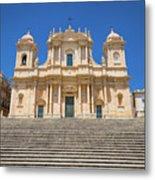 Noto, Sicily, Italy - San Nicolo Cathedral, Unesco Heritage Site Metal Print