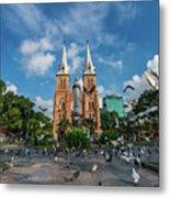Notre-dame Cathedral Basilica Of Saigon, Officially Cathedral Basilica Of Our Lady Of The Immaculate Metal Print